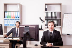 Customer service support working in the office Stock Photography