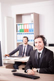 Customer service support working in the office Royalty Free Stock Images