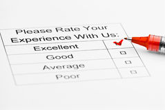 Customer service survey Royalty Free Stock Photos