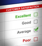 Customer service survey with average selected. Royalty Free Stock Photo