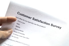 Customer service survey Royalty Free Stock Photography