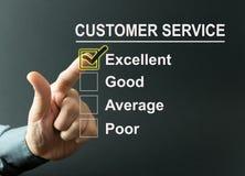 Customer service survey Stock Photos
