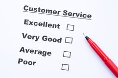 Customer service survey form Royalty Free Stock Photography
