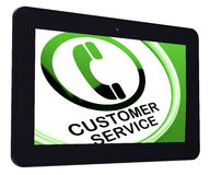 Customer Service  Tablet Means Call For Help Royalty Free Stock Photos