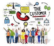The Customer Service Target Market Support Assistance Concept Stock Images