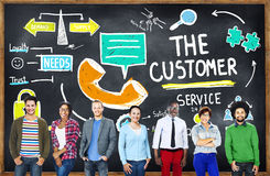 Customer Service Target Market Support Assistance Concept Stock Images