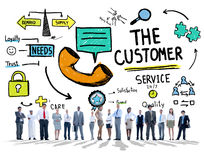 The Customer Service Target Market Support Assistance Concept Stock Image