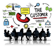 The Customer Service Target Market Support Assistance Concept.  Royalty Free Stock Photo