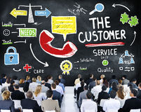 The Customer Service Target Market Support Assistance Concept Stock Photos