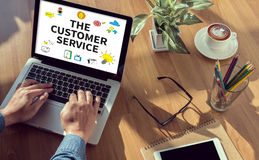 THE CUSTOMER SERVICE (Target Market Support Assistance) royalty free stock photo