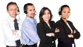 Customer service team Royalty Free Stock Photos