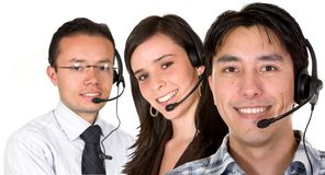 Customer service team Stock Image