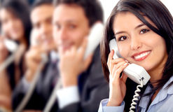 Customer service team Stock Images
