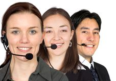 Customer service team Stock Photos