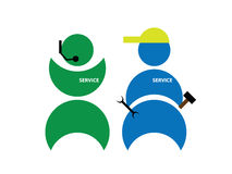 Customer service team. An abstract customer service team Stock Images