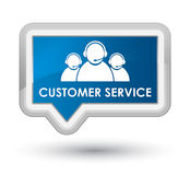 Customer service (team icon) prime blue banner button Royalty Free Stock Images