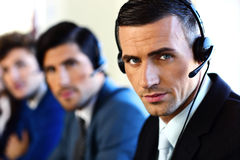 Customer service team. With men Royalty Free Stock Images
