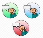 Customer Service Tech Support Vector Cartoon stock illustration