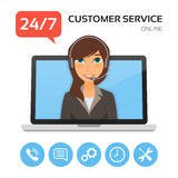 Customer service.Technical support call center concept. Stock Image