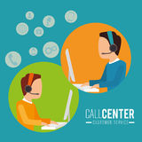 Customer service and technical support. Graphic design, vector illustration Stock Images