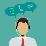 Customer service and technical support Royalty Free Stock Photo