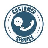 Customer service telephone bubble speech Stock Photo