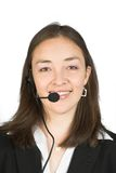 Customer service or telesales woman Royalty Free Stock Photo