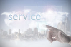 Customer service touchscreen Royalty Free Stock Images
