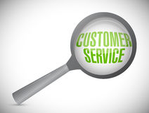 Customer service under inspection. illustration Stock Photography