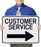 Customer Service This Way Royalty Free Stock Image