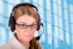 Customer service woman Royalty Free Stock Image
