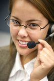 Customer Service Woman Stock Photo