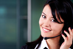 Customer service woman Stock Images
