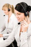 Customer Service Woman Call Center Phone Headset Royalty Free Stock Images