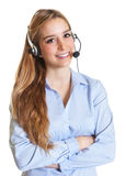 Customer service woman with crossed arms Royalty Free Stock Photo
