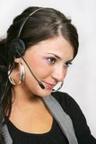 Customer service woman with headset Stock Image