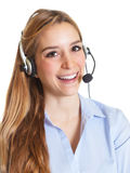 Customer service woman laughing at camera Stock Photography