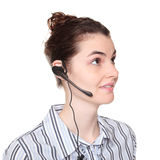 Customer service - woman wearing headset Stock Photography