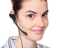 Customer service - woman wearing headset Stock Photos