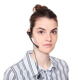 Customer service - woman wearing headset Royalty Free Stock Images