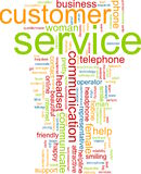 Customer service word cloud Stock Image