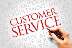 Customer Service. Word cloud, business concept Stock Photo