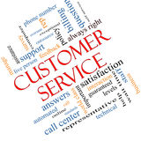 Customer Service Word Cloud Concept Angled Stock Photography
