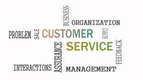 Customer Service word cloud concept on white background royalty free illustration