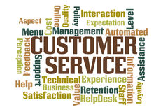 Customer Service. Word Cloud on White Background Royalty Free Stock Image