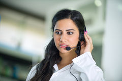 Customer Service worker, operator with headset Stock Images