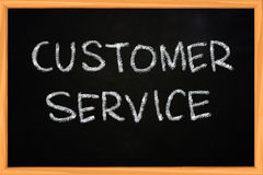 Customer Service Writing on Blackboard Stock Images