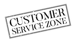 Customer Service Zone rubber stamp Stock Photography