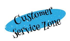 Customer Service Zone rubber stamp Royalty Free Stock Photos