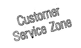 Customer Service Zone rubber stamp Stock Image